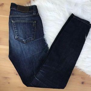 Madewell skinny skinny dark was jeans